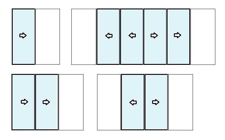 Ouverture  maximale avec les fenêtres coulissantes à galandage