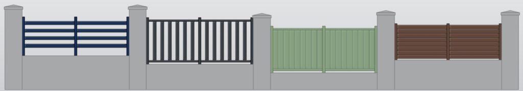 Clôtures correspondantes pour assortir avec les portails.