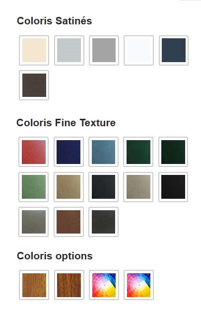Portail Aluminium Alençon. Choix des couleurs, nuancier RAL avec multi-coloration possible.