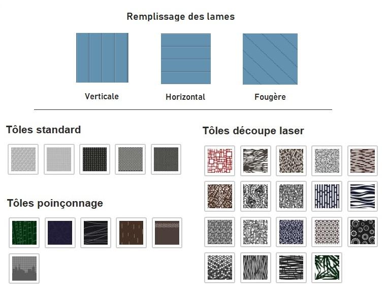 Choix du remplissage et des motifs décoratifs pour les portails en aluminium.